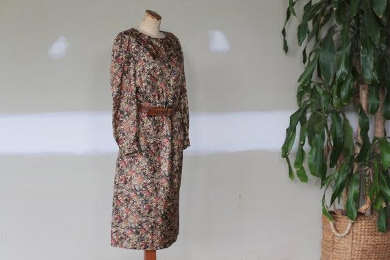 Vintage Floral Dress l Festival Tea Dress l 70's … - image 3