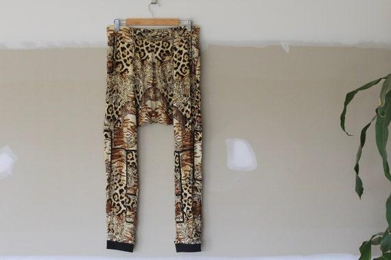 Vintage Leopard Print Harem Pants l Animal Print P