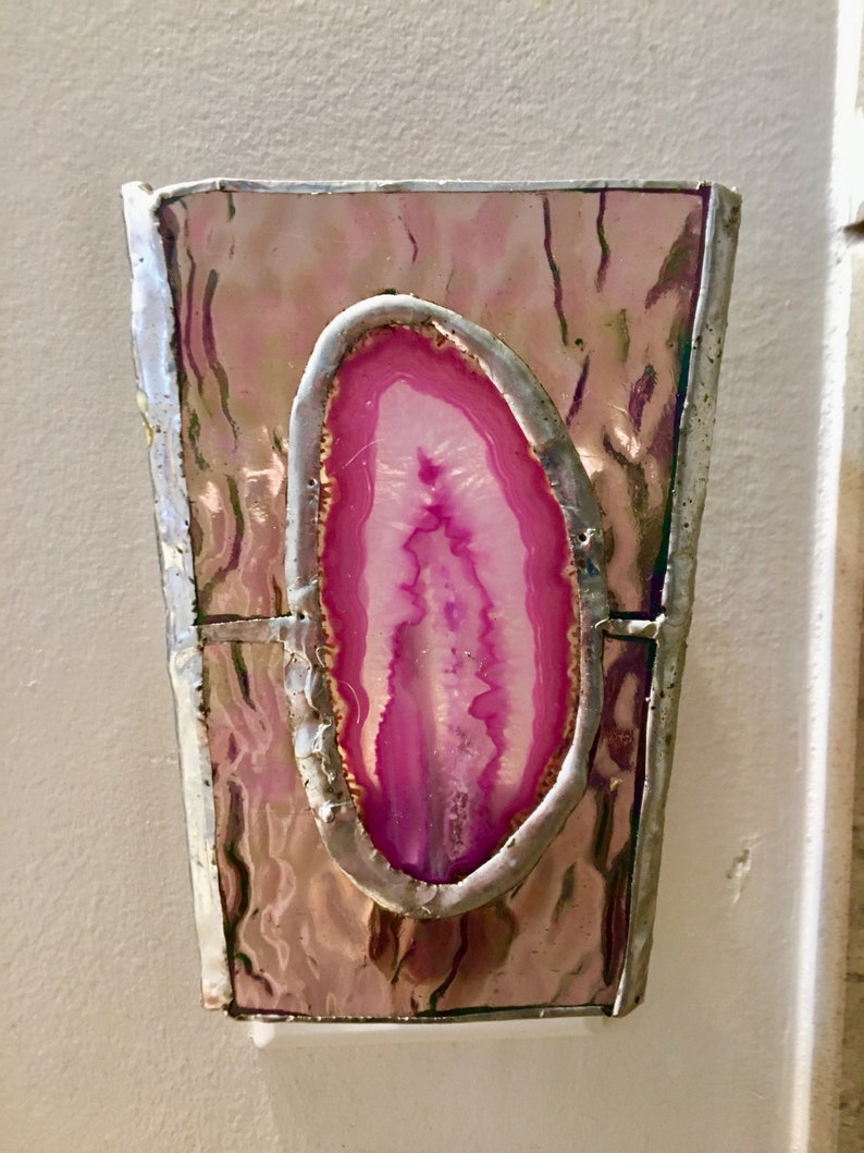 Stained Glass agate night light