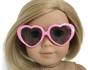 """Pink Cat-eye Plastic Frame Sunglasses made for 18/"""" American Girl Doll Clothes"""