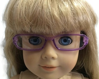 Reading Glasses Brown Frame 15 in 18 in American Girl Boy Doll Accessories