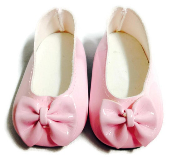 Pink Ballet Flats Shoes with Bows Fits 18 inch American Girl Dolls