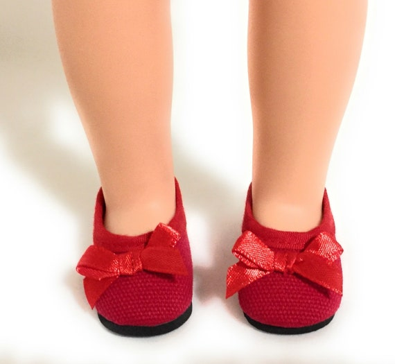 Pink Ballet Flats Shoes w//Bow for 14 inch American Girl Wellie Wishers Dolls