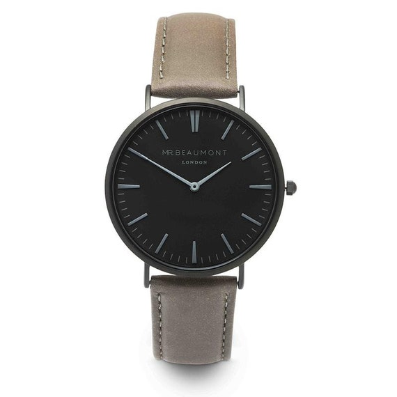 Mr Beaumont of London Men's Watch - Grey + Black Face
