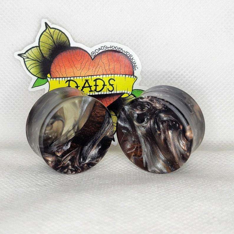 28mm 1 116 inch Handmade Walnut and Resin Ear Plug Gauged Jewelry
