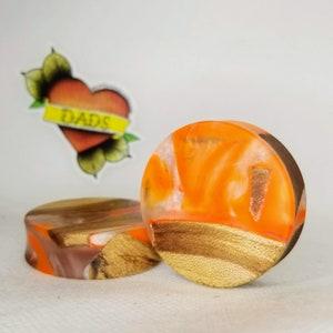 35mm 1 38 inch Handmade Maple Burl and Resin Ear Plug Gauges Jewelry