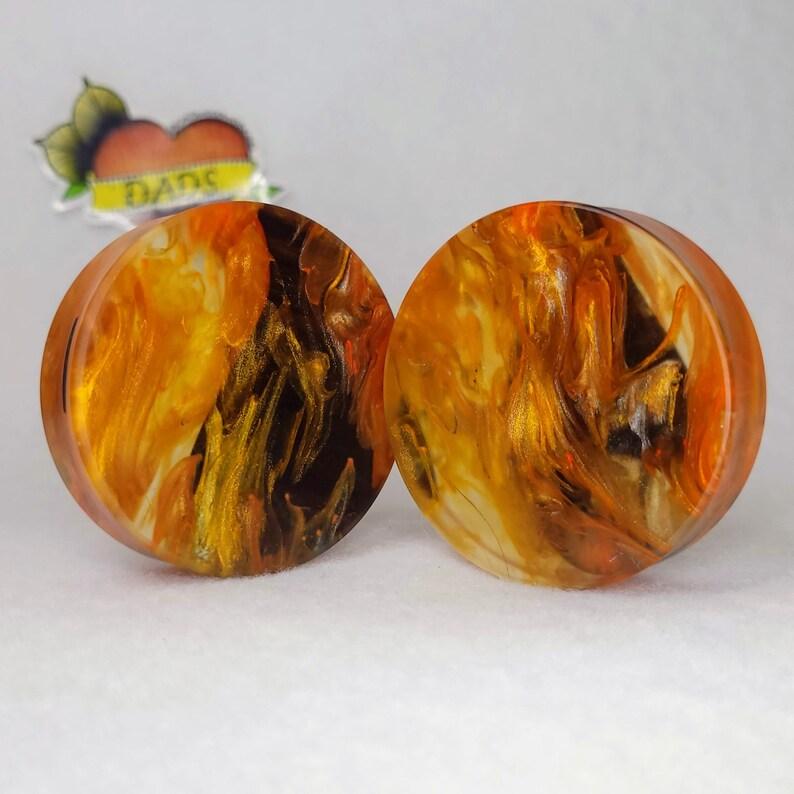 50mm Handmade Oregon Myrtle and Resin Ear Plug Gauged Jewelry