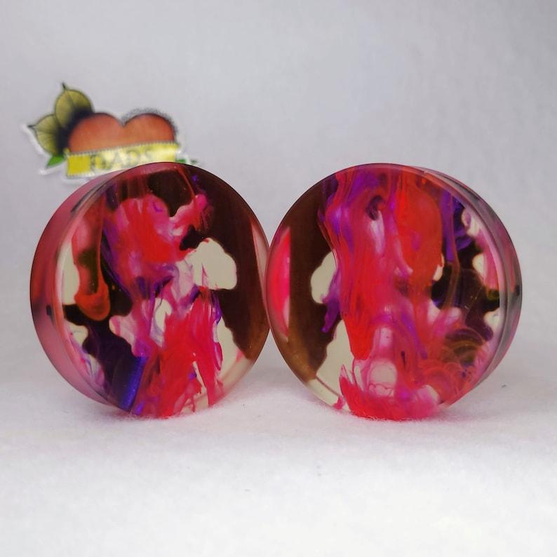 51mm Handmade Walnut and Resin Ear Plug Gauged Jewelry