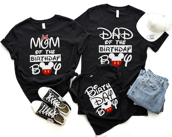 Family Birthday Matching Shirts Mickey Mouse Shirt Ears Party Disney