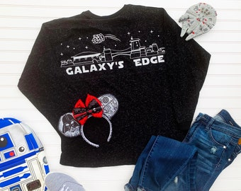 b1b2f9312 Star Wars Land Galaxy's Edge Inspired Spirit Jersey Shirt for Disneyland  Walt Disney World with Millennium Falcon