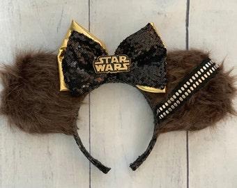 bd8dc8add41 Star Wars Chewbacca Chewie Wookie Galaxy s Edge Disney Ears with Disney  Parks Enamel Trading Pin for Disneyland Disneyworld