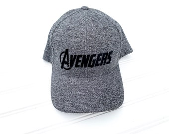 f1fccb8c Avengers Marvel Disney Inspired Fitted Hat, Youth Adult Women Men Disney Marvel  Avengers Fitted Hat or Trucker Hat