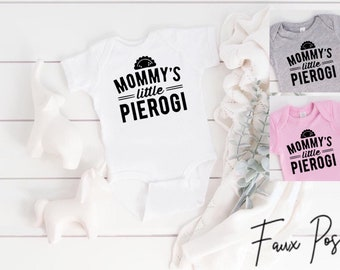 Dziadek\u2019s Little Pierogi Baby Bodysuit Funny Baby Clothes Polish Pride Baby Shower Gift