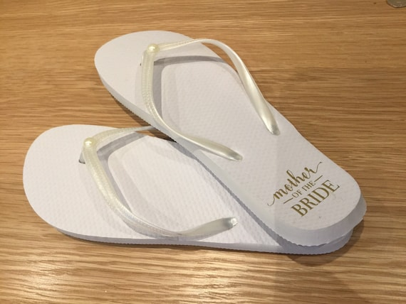 a0f0af44ebe46 Mother of the bride flip flops, Wedding flip flops, Hen party, Hen party  flip flops, flip flops, Bridal party, Honeymoon, Bridesmaid gift.
