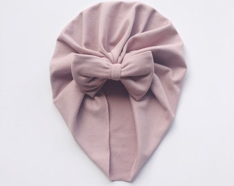 Dusty Rose Ash Pink Baby Girl Bow Newborn Nylon Headband Hair Clip Photo Prop Take Home Outfit Birthday Party Baby Shower Gift Toddler