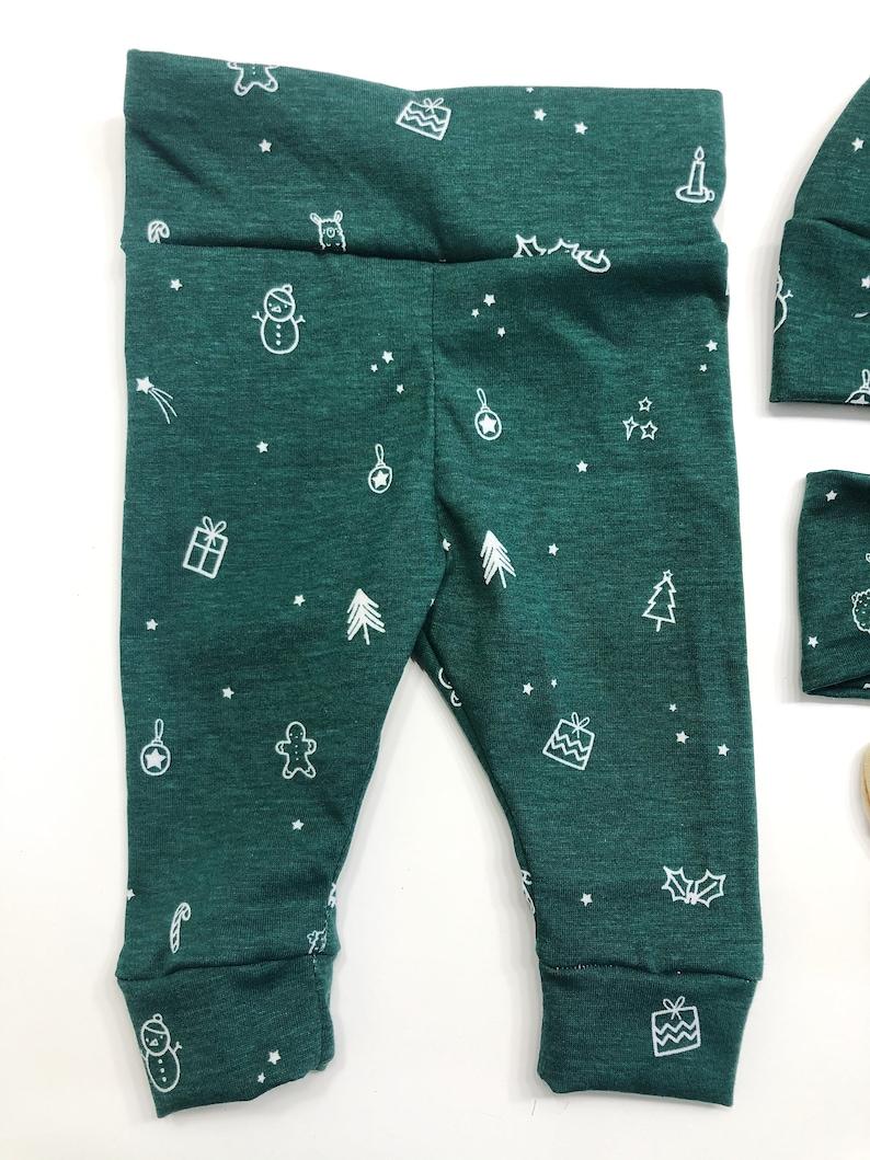 SALE emerald green Christmas llama tree Baby Girl Boy Set Leggings Hat Headband Bow Gift Shower Photo newborn Take Home Outfit Knot Pants