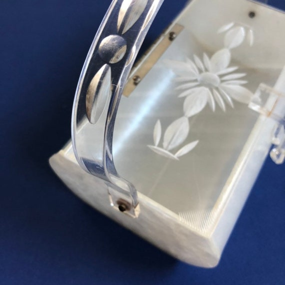Great 1950s Carved Lucite Purse | Vintage 50s Luc… - image 2