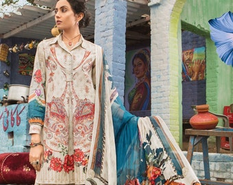 e5dbef2673 Original Maria B M.Prints Embroidered Lawn Unstitched 2 Piece Top and  Dupatta Suit Spring / Summer Collection