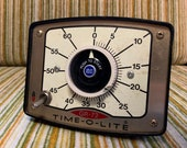 Vintage 1960 s Time O Lite Kitchen Timer. Retro. Eclectic.