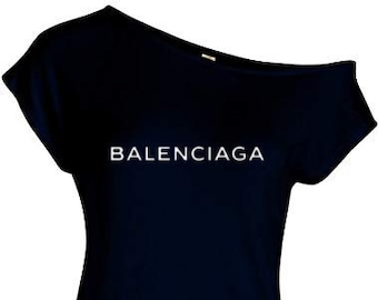 1204776c941 Sexy Off Shoulder Inspired Balenciaga T-shirt in White