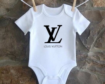 7b76e78ae8fe Cute Inspired Designer Louis Vuitton Baby Onesie with Short Sleeves All  Colors NB-24M