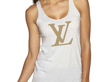 b5098fc2084b1e Womens fitted Louis Vuitton Inspired Tank Top XS-2XL All Colors