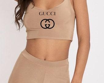 8fb75dbf0b5 Sexy Designer Gocci Inspired Cropped Cami Top