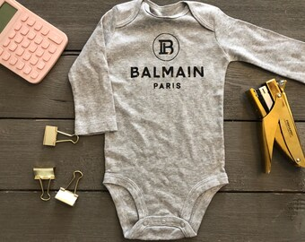 086d6635e678 Cute Inspired Designer Balmann Baby Onesie with Long Sleeves All Colors  NB-24M