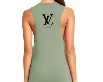 cd5792d2324941 Womens Louis Vuitton Inspired Muscle Tank Top XS-2XL All Colors