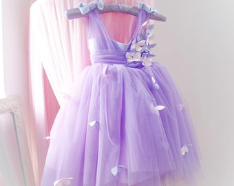 Beautiful soft cotton baby girl butterfly motif dress with hand embroidered butterflies. 0-3 months Summer dress