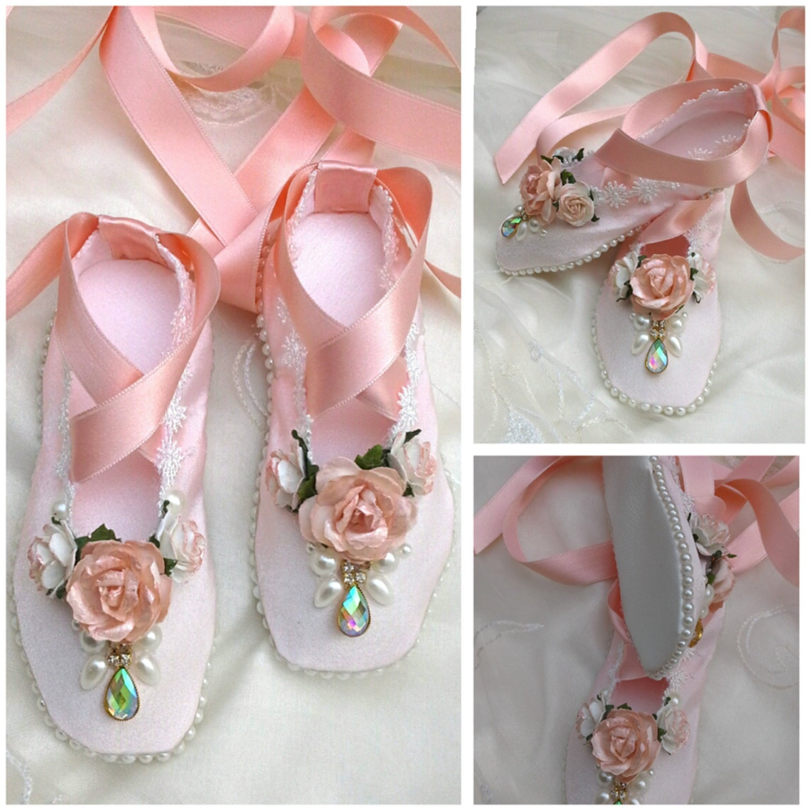 decorated pointe shoes, ballet shoes, decorated ballet slippers, decorative ballet shoes, shabby chic, ballet dancing shoes,gift