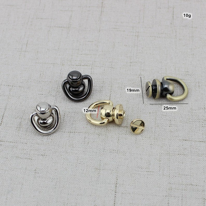 2pcs 5colosr High quality Copper screws Round Head Solid Nail Leather Screw Rivet Bags Decoration Chain no hook bag modification