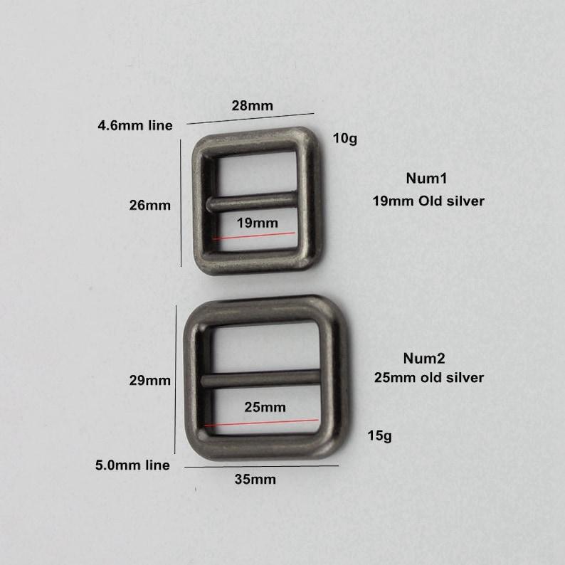 4pcs 50pcs 19mm 51mm Old silver Alloy Slider Tri-glide Accessory Bags Handbags long shoulder strap adjustment welded buckles