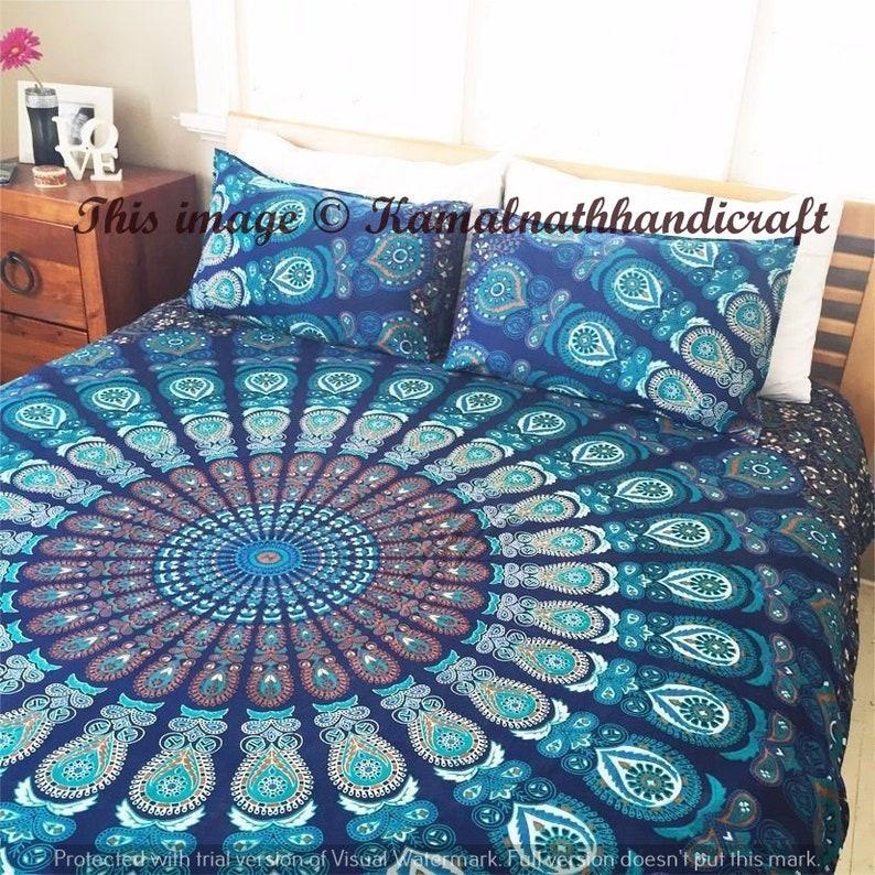 Queen Size Indian Bohemian Mandala traditional  Mandala Bohemian Duvet Cover with pillowcase Hippie Blanket Cover Duvet Quilt Cover