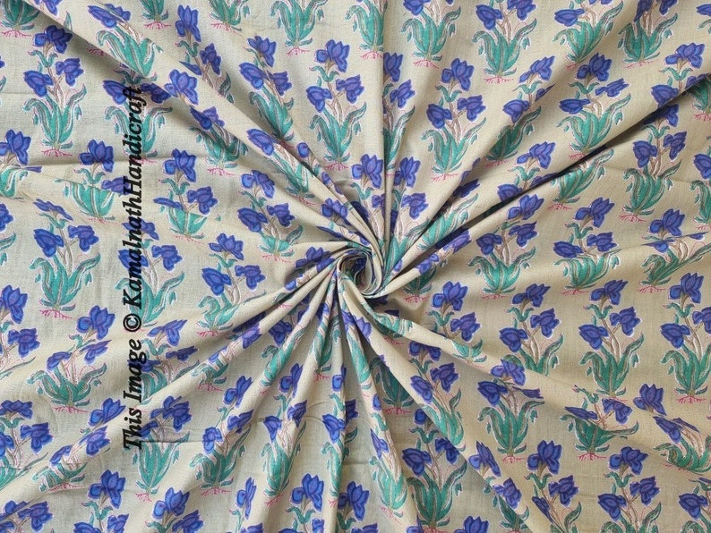 Dressmaking Fabric Sold By Yards indian Hand Block Print Fabric Crazy Indian Cotton Fabric Sanganer Jaipur Handmade Vegetable Color Print