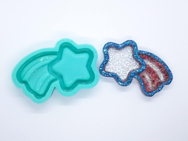 Shooting Star Shaker Rubber Mold Opaque Made in America
