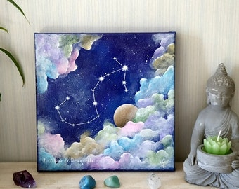 Painting on canvas - constellation of the zodiac - sign of the scorpion
