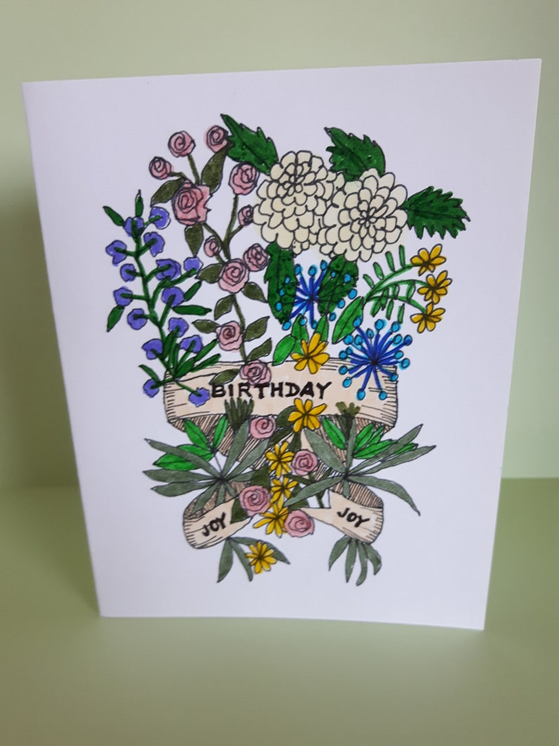 Fine Sale Handmade Greeting Card Handmade Card Flower Lover Etsy Personalised Birthday Cards Paralily Jamesorg
