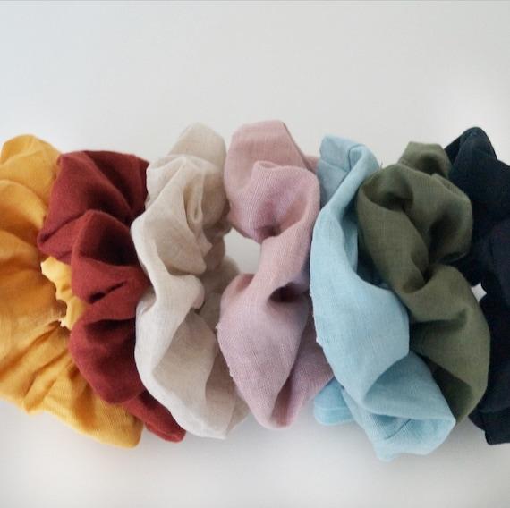 Linen Scrunchies