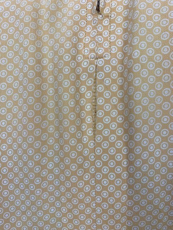 1930s Yellow Cold Rayon Puffed Sleeve Dress [sm/m… - image 9