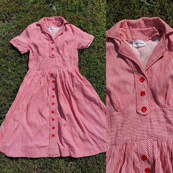 1940s Candy Striper Toni Todd Dress Volup [med/lrg