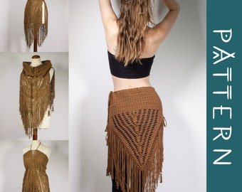 WILDTHING   PDF Pattern   Multi-way tribal-inspired crochet fringe skirt