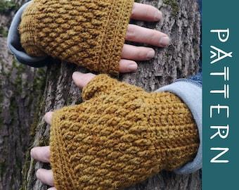 KAARNA   PDF Pattern   Cosy & warm crochet fingerless gloves