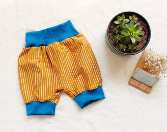 Pump Pants Baby Baby Pants French Terry 50-56 62-68 74-80 86-92 Fruit Apple Pear Fruit Ochre
