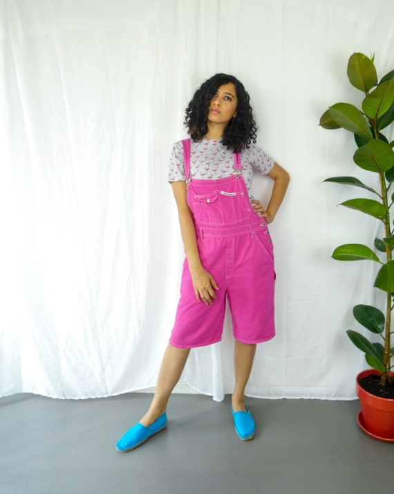 Vintage Half  Hot Pink Dungaree || Vintage Rose Sa
