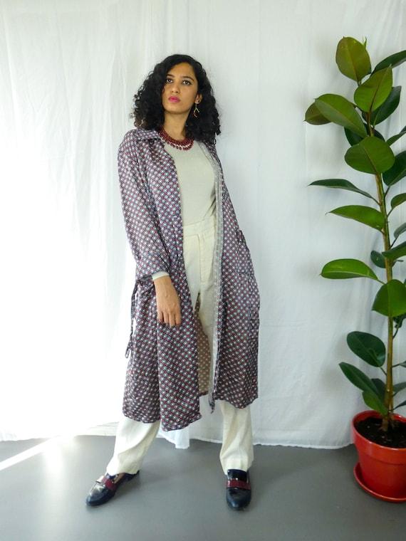 Asian Kimono Style Long Jacket || Satin Robe Long