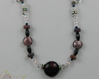 Romantic Nights--Creative Live Wire charged with Reiki Energy--Gemstone Beads--Window and House Art to Inspire Creativity