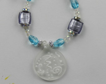 Snow Drifts--Creative Live Wire charged with Reiki Energy--Sparkling Beads--Window and House Art to Inspire Creativity