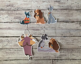 dog Tramp Decals Lady and the Tramp Vinyl Wall Decals Sticker Disney Wall Decals Disney Nursery Decor Decal Girls Boy/'s Room Decor kcik2139