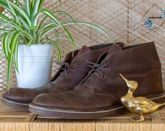 3f1173062 Vintage Leather Clark s Chukka Shoes Boots - Wonderful Condition